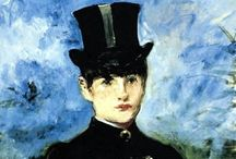 Artist: Manet / Édouard Manet (1832–1883) French painter pivotal in transition from Realism to Impressionism. Among 1st 19th C artists painting modern life. 1863 paintings key in the birth of modern art. Comments are from prior pinners. / by Laurie Mullikin