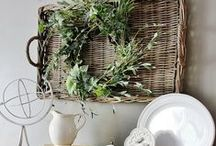 Decor: BASKET beauty / Love the warmth of a rustic vintage basket or 5? Interior decorating, rustic style at its best! / by Funky Junk Interiors