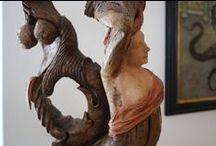 ART - carved wood Sculptures / My sculptures- medium size  www.enricabarozzi.it