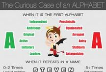 """NameMyWorld - [Infographic] The Curious Case of an Alphabet (Series) / This is a board for all the Infographics of """"The Curious Case of an Alphabet (Series)"""""""
