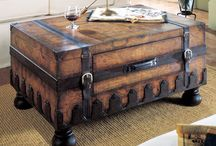 Trunks and Treasure Chests / Fabulous as end tables, coffee tables and night stands, with the extra bonus of storage. LIMIT 10 PINS DAILY / by 🐾 KRYSTYNA 🐾