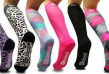 Compression Socks & Sleeves / We carry a variety of compression socks and compression calf sleeves to make your run a little smoother! Check out some of our awesome designs below: