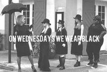 ..we wear black