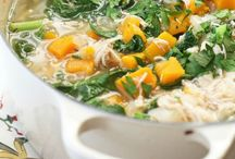 Healthy Soups / Healthy and delicious soup. A meal in a bowl.