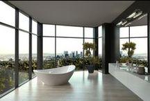 Bathroom Decor / Modern, minimalist, sophisticated, stylish, as well as simple and easy   http://www.inspiredhomeideas.com/simple-modern-bathroom-interiors/