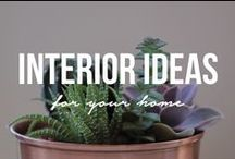 Interior Ideas / Ideas for home interior decor and urban living decor with a focus on sustainability and bringing nature indoors.