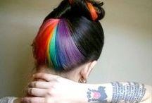 Hair. Rainbow