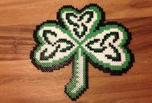 St. Patrick handmade / St. Patrick, leprecon, leipreachán, shemrock, irish, luck, crochet, beads, crossstitch, embroidery, needlework, pattern
