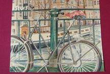 Mis acuarelas / Estos dibujos pintados con acuarelas tienen como motivo paisajes urbanos de lugares que he visitado a lo largo de mi vida. Si te gustan mi email es: albapor1@gmail.com.