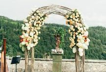 Wedding Ceremony Designs / Beautiful outdoor ceremony designs, including seating and decorations.