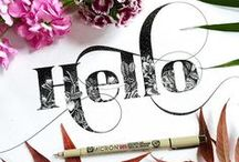 Lettering Illustration / Type treatments, detailed lettering, monograms and type design