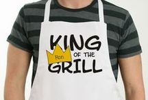 Personalized Aprons / Are you a baking queen or 'king of the grill'? Then get suited and booted ready for BBQ season with our range of Personalized Aprons! Stylish and practical, these customized aprons really will make you a whizz in the kitchen!