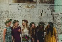 boho brides / Flowers in her hair, her feet bare- beautiful flowy and right on key, boho brides