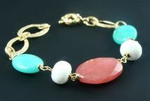 Wholesale - Gemstone Bracelets & Necklaces / Our latest 18ct gold & silver plated fashion jewellery gemstone bracelets & necklaces available to retailers and wholesalers (to register go to: http://www.almojewellery.com/wholesale-t-cs/)