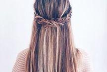 Hair style, makeup