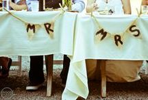 decor ideas. / The decor is what makes the wedding YOU.