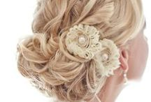 hair and makeup. / wedding hair-dos!