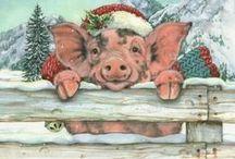 Kerst Varkens - Christmas Pigs / Kertmis - ORNAMENTEN TE KOOP - fml.varkens@xs4all.nl
