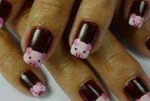 Nagel Kunst - Nail Art / Versierde nagels met varkens