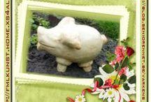 PSP - Creaties 1 - Collectie / Leuke PSPcreaties met varkens - gemaakt door Fräncis met PSP 9 - met mijn VarkensCollectie