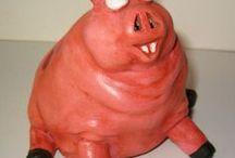 VarkensCollectie 14 - Te Koop / Deze varkens zijn te koop voor 14,98 euro per stuk - uit mijn VarkensCollectie - fml.varkens@xs4all.nl