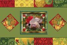 Kerst Kaarten / Kerstkaarten te koop voor 1 euro met envelop - fml.varkens@xs4all.nl