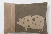 Kussens - Pillow / Leuke kussens met varkens