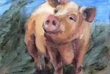 Kunst 1 - Varkens / Varkens in de Kunst - Schilderkunst