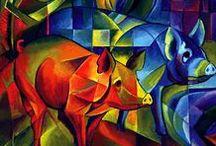 Kunst 3 - Varkens / Varkens in de Kunst - Schilderkunst