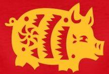 Chinese Varkens / Chinese Zodiac - Tekeningen - Plaatjes