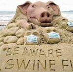 Zand  Sculpturen - Sand Pigs / Zand varkens - Sculpturen