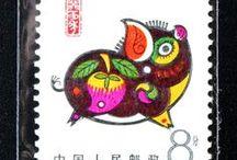 Postzegels met varkens / postzegels met varkens uit alle delen van de wereld