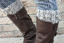 Crochet Footwear, Crochet Socks & Crochet Boot Cuffs / Keep those legs and feet warm with these cozy crochet patterns!