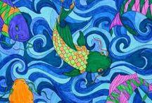 Kleurboek - varkens / PSPCreaties gemaakt van de kleurplaten uit het Volwassenen kleurboek.