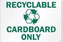 * Recycled Cardboard * / Recycled cardboard ideas