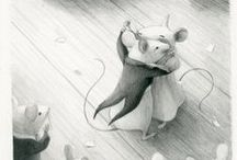 i lov illustration, watercolor draw, pencil, ...