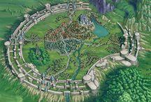 RPG World Building Inspiration / Inspiring artwork of landscapes and maps to help you build your RPG worlds. #RPG #TabletopRPG #DungeonsAndDragons #DND
