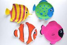 1er avril - poisson / Des idées de bricolage poisson pour la maternelle, le primaire ou même les grands. Des bricolages pour les blagues du 1er avril.
