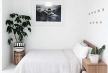 BEDROOM SPACES / A cozy bed and simple decor is all I need.
