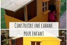 Cabanes pour enfants / Tutos et inspirations pour réaliser sa cabane, maisonnette ou tipi pour les enfants. DIY playhouse.