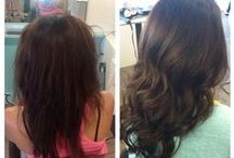 Balmain Hair Extensions / Balmain extensions from our salon and beyond.