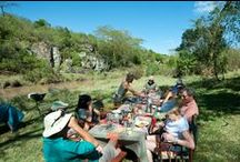 Bush pic nics at Sosian / Eating out in the bush occurs regularly at Sosian, Laikipia, Kenya  www.sosian.com