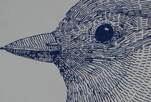 Bird Woodcut