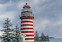 Lighthouses / Love the sea!  Enjoy my collection of lighthouses from around the World!  I would like to visit them all! / by Mary W