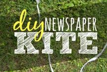 Newspaper crafts / You receive the paper every week. Here are some ideas of what to do with it after you're done reading!