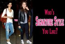 Star Signature Style / Did you know Ranbir Kapoor has a fertish for leather jackets? Or, Are you aware that Sonam Kapoor is the new retro diva? Find out more about your favorite star's signature style, only on Boldsky Fashion - Star Signature Style http://bit.ly/1Rlk6xr