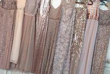 Wedding Fashion / Metallic, Sequin, Beading, Unique, Mismatched Colours