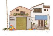 illustration - house and etc.