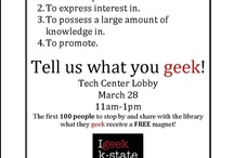 Get Your Geek On! / What are your a geek about?  What is your passion?