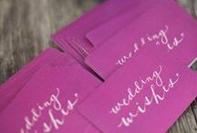 Pantone Radiant Orchid / Fun and unique ways to incorporate Pantone's color of the year in your 2014 wedding!